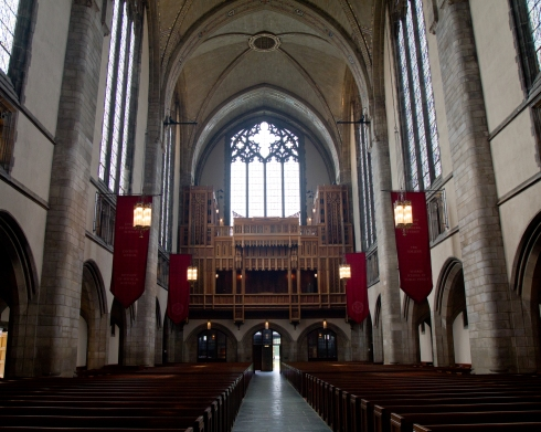 Rockefeller Chapel on the campus of the University of Chicago in Hyde Park