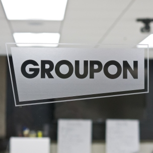 Groupon, in the former Montgomery Ward & Co. warehouse along the Chicago River.