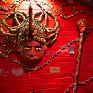 The House of Blues is filled with remarkable folk art.