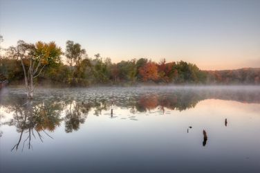 First light at Pickerel Lake