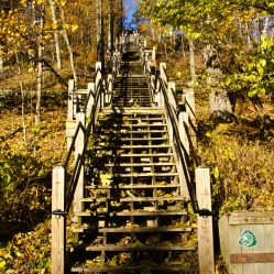 302 steps up to the top of Mt. Baldhead