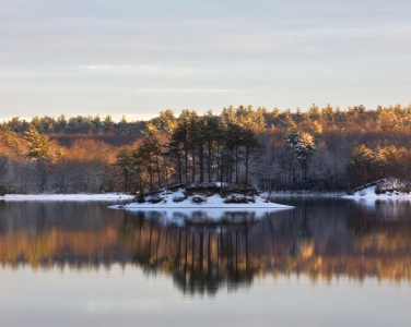 Hopkinton State Park at dawn