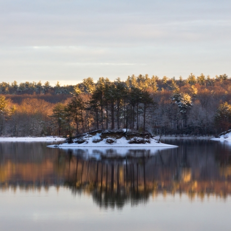 Hopkinton State Park at dawn