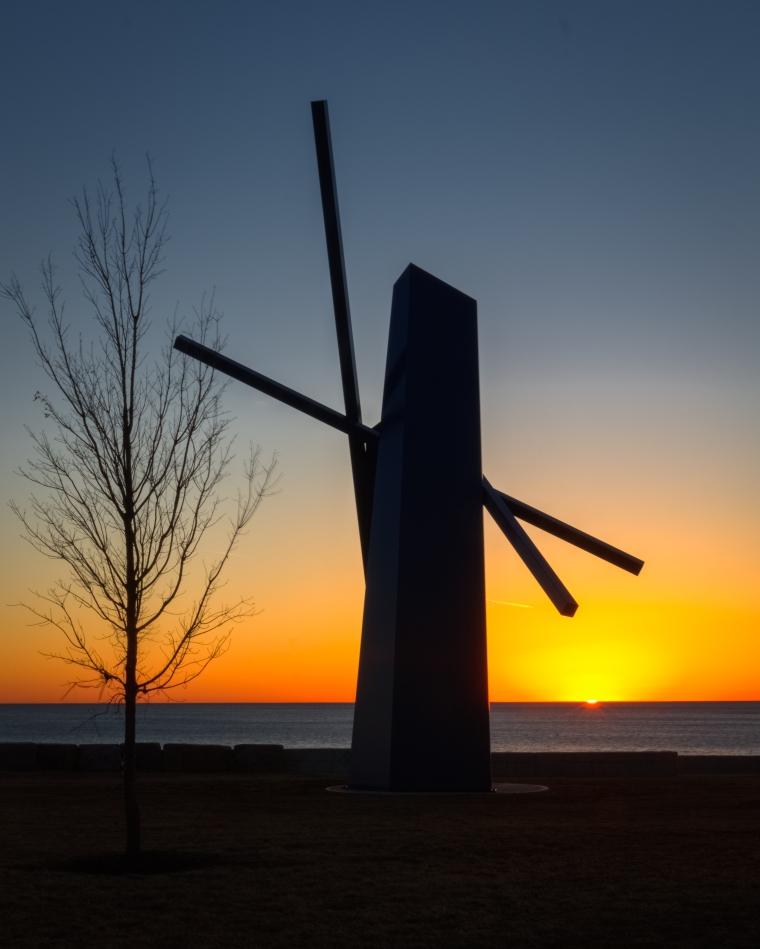 Chevron at dawn-