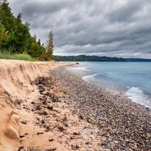 The beach at Point Oneida