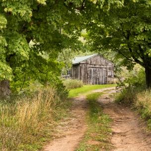 Barn on the Martin Basch farmstead, Baker Road, Point Oneida