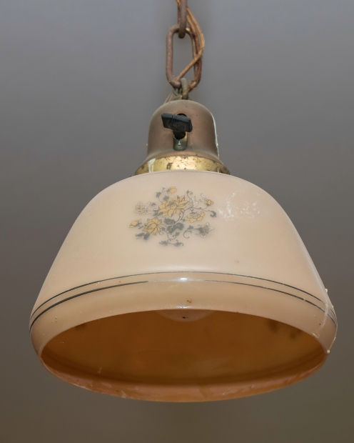 One of the overhead lamps in the lobby.