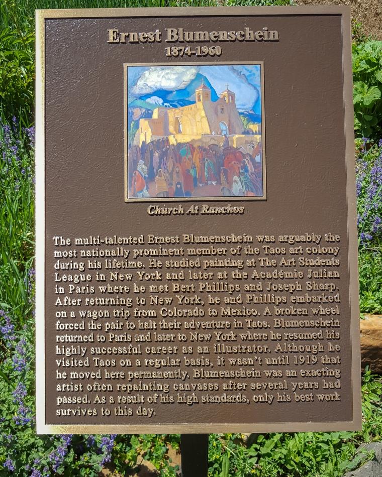 Blumenschein plaque-114905