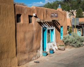 The oldest house in the United States, circa 1646, is a across the road from San Miguel.