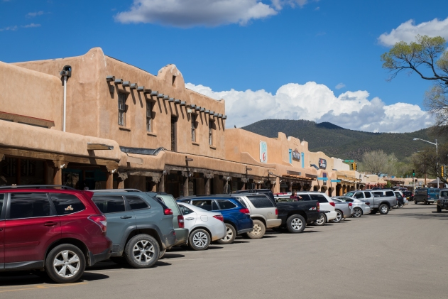 Shops on the Plaza in Taos.