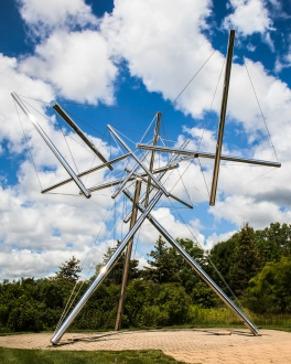 """B-Tree II,"" by sculptor, photographer, and mathematician Kenneth Snelson."