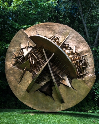 """Disk in the Form of a Desert Rose,"" by Arnaldo Pomodor"