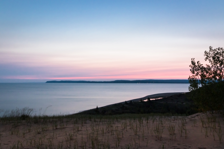 Dawn comes to Sleeping Bear Bay