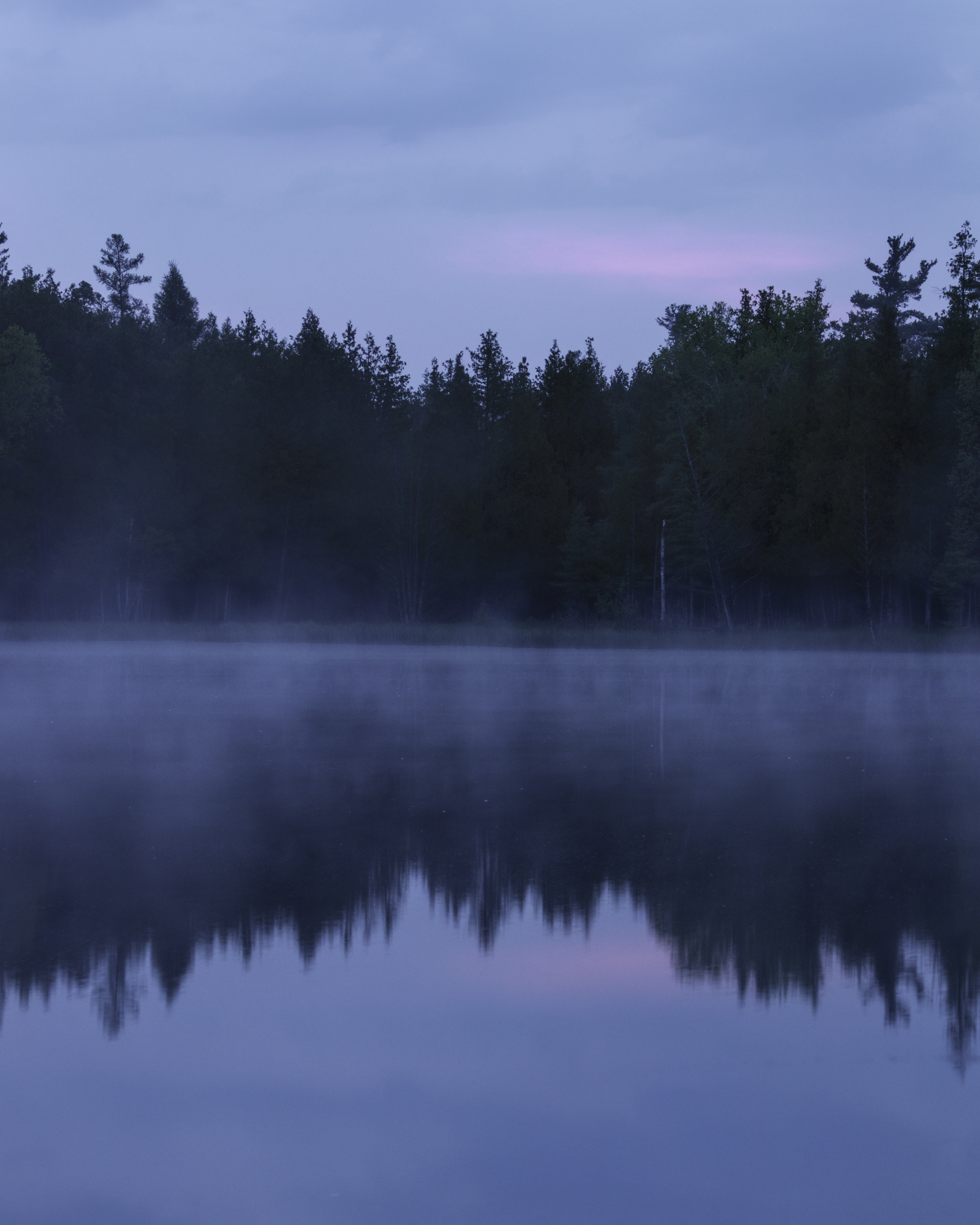 Mist on Bass Lake-2