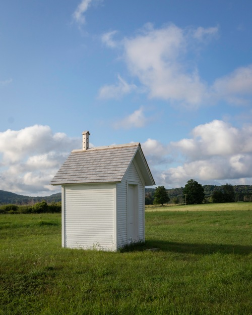 The outhouse.